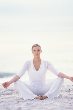 White, comfortable clothing helps to encourage energy flow.