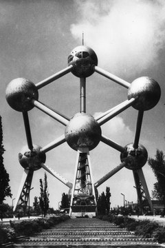 The Atomium building in Brussels, Belgium, dates from 1958.