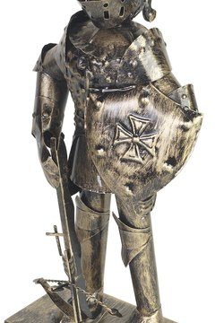 Medieval knights wore protective armor in battle.