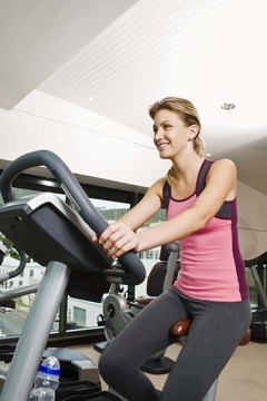 Stationary bikes are ideal for home or gym use.