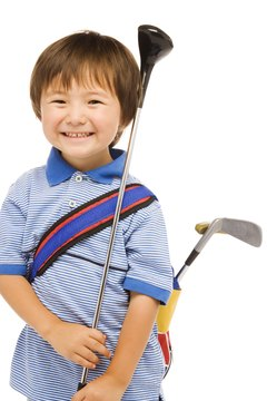Outfit your child with clubs of proper length.