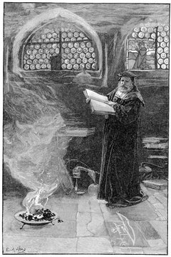 Elizabethans believed the Devil could be summoned by magic, as depicted in Marlowe's play Doctor Faustus.