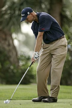 Hitting a golf ball on the sweet spot increases optimum distance and accuracy.