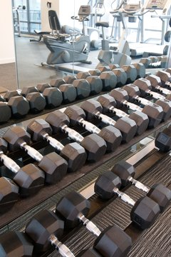 Use a variety of gym machines to challenge your muscles in different ways.