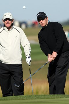 Hall of Fame Golfer Hale Irwin with son Steve