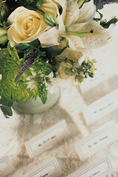 Silk flowers add a romantic touch to a wedding without breaking the bank.