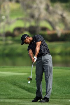 Tiger Woods' right hand rotates over his left as he swings during the 2008 Arnold Palmer Invitational.