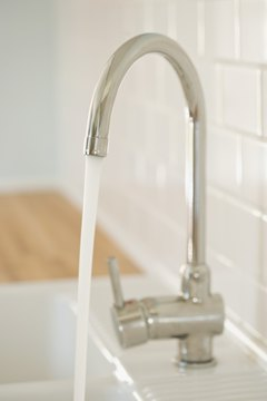 Installing low-flow water faucets is one way to conserve water.