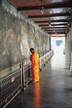 Buddhists pray to develop compassion and wisdom within.