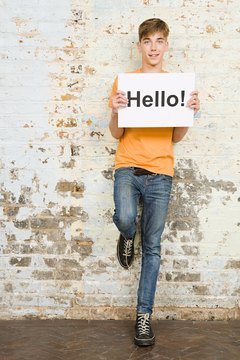 Be prepared with small talk ideas when meeting someone new.