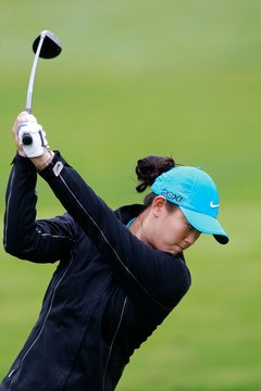 Michelle Wie maintains her spine angle.