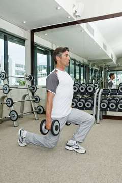 Both front squats and static lunges work your quadriceps and glute muscles.