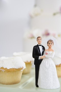 Enjoy cupcakes instead of a tiered wedding cake.