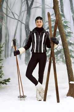 Alpine and Nordic ski poles are typically different lengths, but the baskets come on and off similarly.