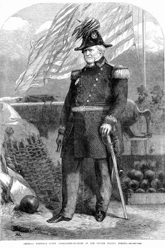 Winfield Scott was the first commanding general of the Union during the Civil War.