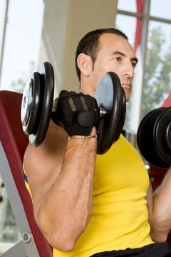 The biceps curl is often paired with the overhead press.
