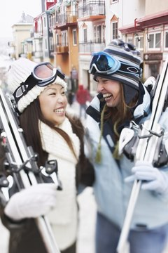 Female-specific skis are usually shorter and lighter.