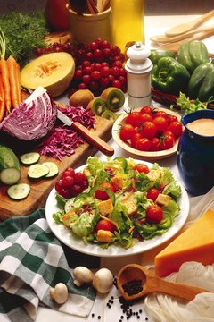 Eat a variety of fresh foods for good health.