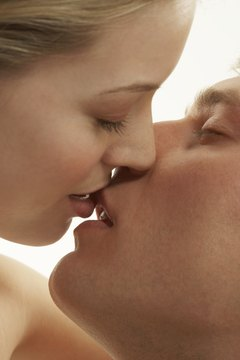 The first kiss is a key moment in a relationship.