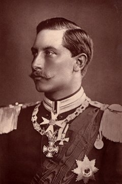 Kaiser Wilhelm, often pictured in uniform, displayed a militaristic personality in public.