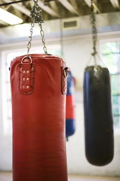 A punching bag makes a good workout buddy.