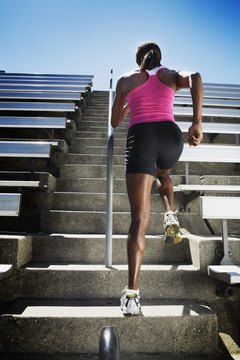 Running up a set of stairs helps you burn fat faster than many other exercises.