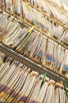 Online databases keep track of patient records and keep the data private.