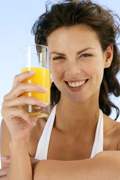 Orange juice helps with iron absorption.