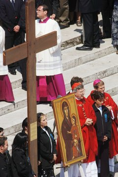 Holy Week celebrated at the Vatican in Rome.