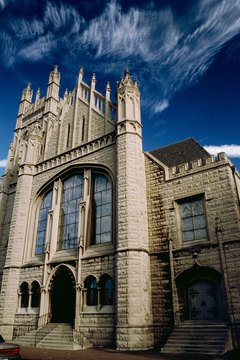 In the 19th century, Episcopal churches were designed to reflect the Gothic style.