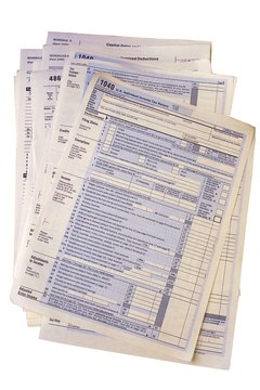 A W-9 form is used to request a taxpayer identification number. A 1099 form reports various types of income.