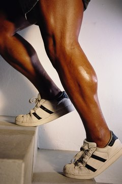 Build defined calf muscles wearing ankle weights for cardio.