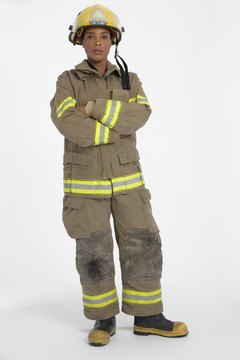 Firemen wear protective gear to protect them in dangerous environments.