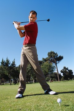 Proper rotation of the hips with the arc of your swing help to generate the power of the golf shot.