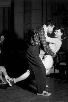 Swing dancing swept the nation as big bands dominated the airwaves in the early 1940s.