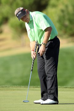Colin Montgomerie is one of the tour players who has used a belly putter.