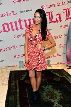 Choose a fun color or print like actress Shay Mitchell at a Juicy Couture event in Beverly Hills.