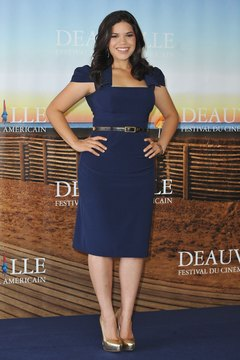 America Ferrera rocks a sheath with a square neckline that flatters a large bust.