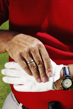 Change your golf glove when it gets sweaty inside.
