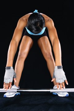 Start with a very low weight when trying straight-legged deadlifts.