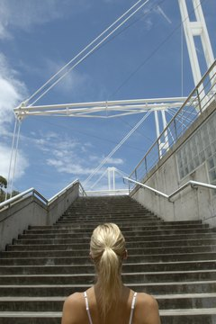 Stair stepping provides cardiovascular benefits and builds leg strength.