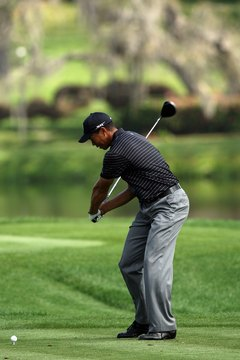 Tiger Woods' club head lags well behind his hands during the 2008 Arnold Palmer Invitational.
