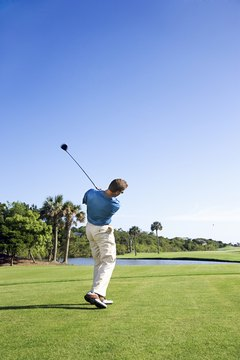 Golfers should learn to use a variety of shots on the golf course in order to lower their scores over time.