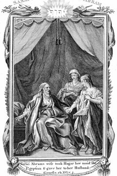 Abraham fathered sons by his wife Sarah and her servant Hagar.