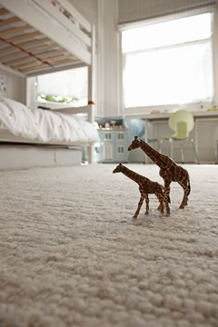 Light-colored carpeting makes small rooms look larger.