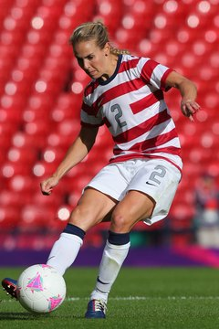 Heather Mitts needs strong legs to be effective at defense.