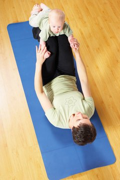 Exercises that involve your baby are good for bonding.