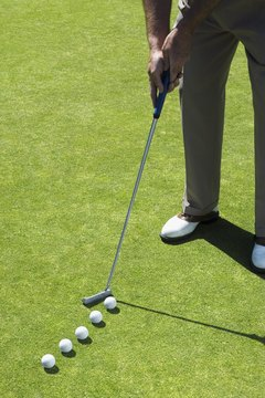 Practice putting to improve your score.