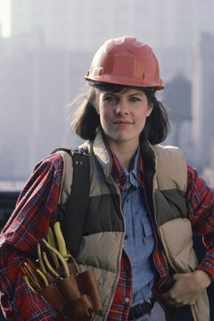 Few women become electricians, but enrollment in apprenticeships is up.