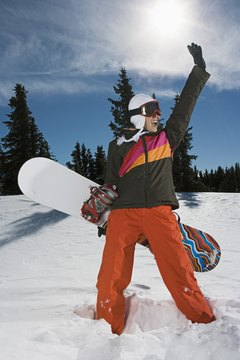 Polarized lenses reduce the glare you'll experience while snowboarding.